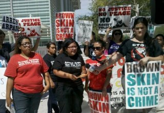 Arpaio Opponents Protest Outside Courthouse
