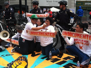 No Papers, No Fear: Undocumented Immigrant Activists Arrested Outside DNC